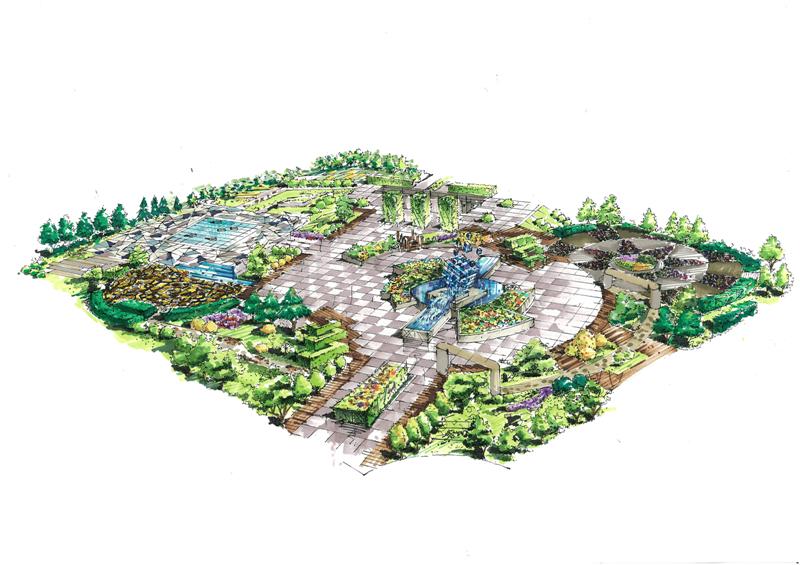 校园广场设计图平面图展示