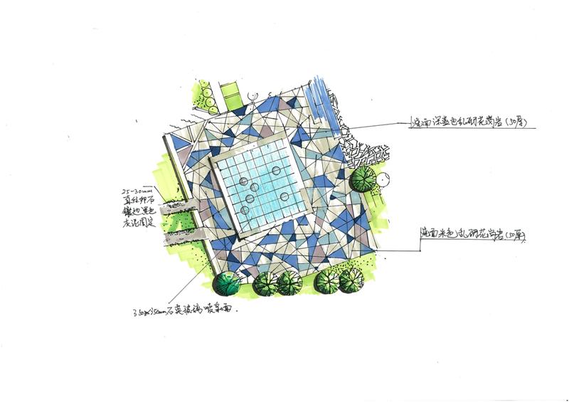 校园入口广场设计图展示