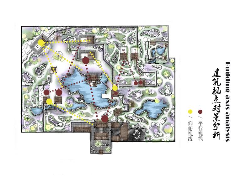 乡镇小游园手绘设计图展示